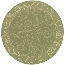 Courtyard Indoor/Outdoor Maribelle Olive Area Rug