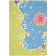 Safavieh Kids Blue/Green Floral Area Rug