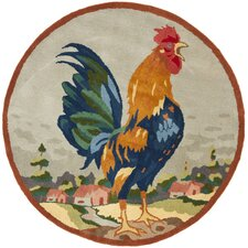 Rooster on The Hill Area Rug