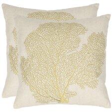 Robin Cotton Throw Pillow (Set of 2)