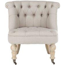 Little Tufted Fabric Slipper Chair