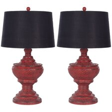 "29"" H Traditional Table Lamp with Empire Shade (Set of 2)"