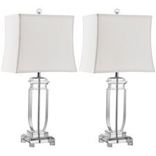 "Olympia 25"" H Table Lamp with Rectangular Shade (Set of 2)"
