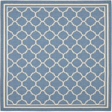 Courtyard Blue & Beige Area Rug