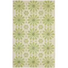 Kids Beige/Green Area Rug