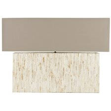 """Ayers Mother Of Pearl Tile 15.8"""" H Table Lamp with Rectangular Shade"""