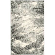 Retro Grey & Ivory Area Rug