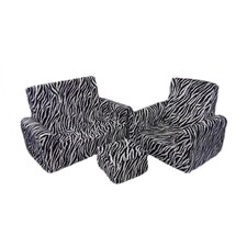 Kids Chair, Sofa and Ottoman Set