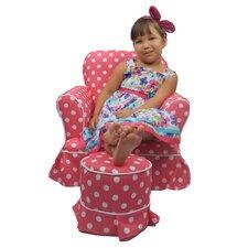 2 Piece Paula Kids Tuffet and Chair Set