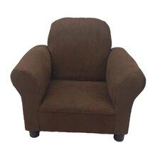 Fun Furnishings Brown Micro Suede Toddler Chair
