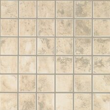 "Pavin Stone 2"" x 2"" Ceramic Mosaic Tile in White Linen"