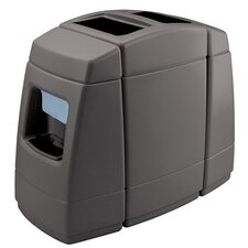 Islander Series 55-Gal Waste with 2 Side Windshield Centers
