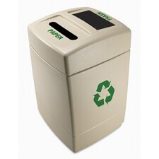 Green Zone 55-Gal Multi Compartment Recycling Bin