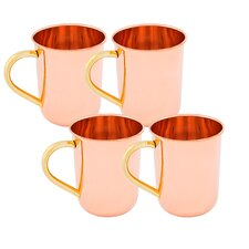 Moscow Mule 14 oz. Straight Sided Mug (Set of 4)