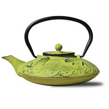 0.78 Qt Cast Iron Ōgon Koi Teapot and Infuser in Moss Green