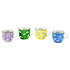 16 oz. Oversized Porcelain Cat Mugs (Set of 4)