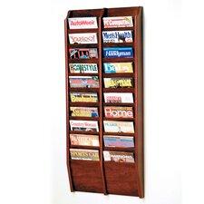 20 Pocket Wall Mount Magazine Rack