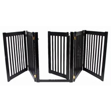 "Amish Handcrafted 32"" Walk-Through 5 Panel Free Standing Gate"