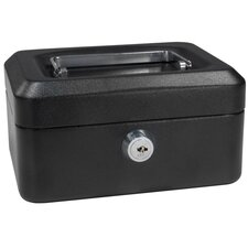 Extra Small Black Cash Box with Key Lock