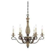 Mallory 6 Light Candle Chandelier