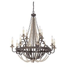 Mallory 12 Light Candle Chandelier