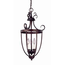 3 Light Outdoor Hanging Lantern