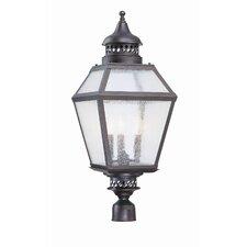 Chimnea 3 Light Outdoor Post Lantern