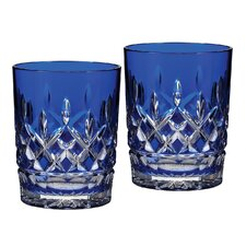Lismore Cobalt Double Old Fashioned Glass (Set of 2)