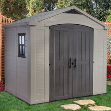 Factor 8 Ft. W x 6 Ft. D Resin Storage Shed
