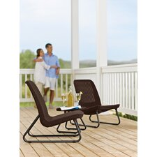 Rio All Weather 3 Piece Lounger Seating Group
