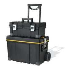 Multiple Storage Plastic Portable Tool Box & Utility Cart