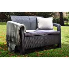Corfu All Weather Outdoor Loveseat with Cushions