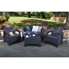 Corfu 4 Piece Deep Seating Group with Cushions