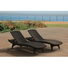 Kirk All Weather Outdoor Chaise Lounge (Set of 2)