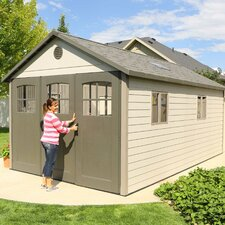 11 Ft. W x 18 Ft. D Plastic Storage Shed
