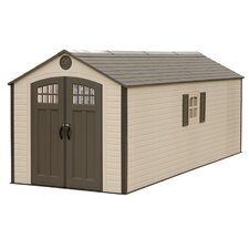 8 Ft. W x 20 Ft. D Polyethylene and Steel Storage Shed