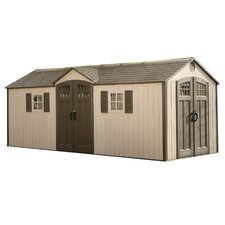 20 Ft. W x 8 Ft. D Polyethylene and Steel Garden Shed