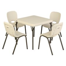 Childrens 5 Piece Square Writing Table and Chair Set