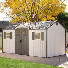 15 Ft. W x 8 Ft. D Polyethylene and Steel Garden Shed