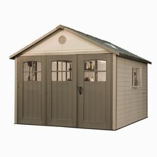 11 Ft. W x 11 Ft. D Plastic Storage Shed