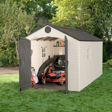 8 Ft. W x 15 Ft. D Plastic Storage Shed