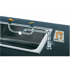 Deck Mount 90° Swivel Eye Washes - 2-head 90 degree swiveleye wash deck mounted