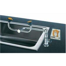Deck Mount 90° Swivel Eye Washes - 2-head 90 degree swiveleye wash left hand mount