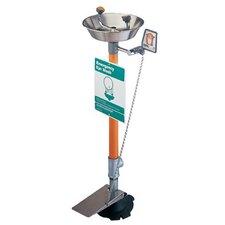 Pedestal Mounted Eye Washes - 2-head emergency eye wash pesestal mounted w/h