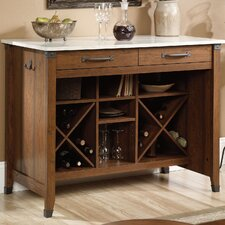 Carson Forge Kitchen Island with Faux Marble Top Product Photo