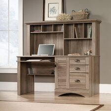 Pinellas Computer Desk with Hutch & Storage