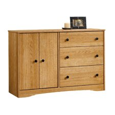 Beginnings 3 Drawer Combo Dresser in Highland Oak