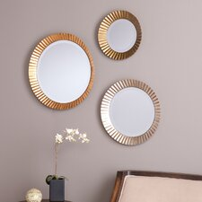 Lora 3 Piece Wall Mirror Set