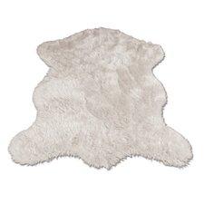 Polar Bear Pelt Faux Fur Shag Area Rug