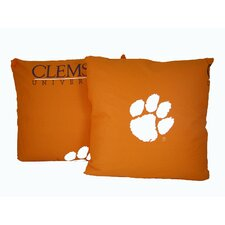 NCAA Clemson Cotton Throw Pillow (Set of 2)
